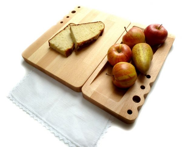 Serving plate in contemporary design